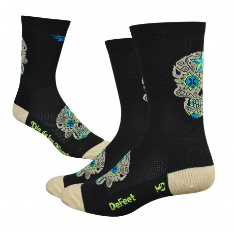 "Chaussettes Defeet Aireator  ""Sugarskull"" gold"