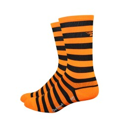 DeFeet Aireator black and orange stripes 6 inches