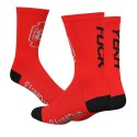 Chaussettes DeFeet 8 Lumens rouge fuck yeah