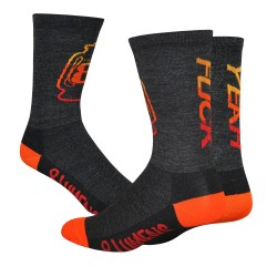 DeFeet Wooleator 8 Lumens Renegade black/orange fuck yeah