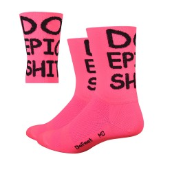 Chaussettes Defeet Aireator DO EPIC SHIT rose