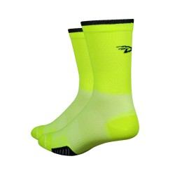 Cyclismo Hivis cycling socks neon yellow