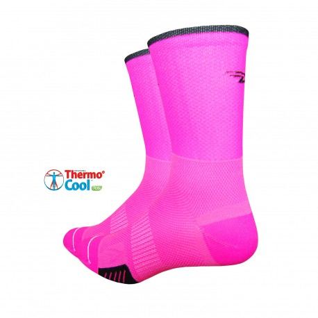 Chaussettes Defeet Cyclismo rose fluo