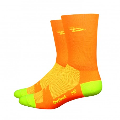 Chaussettes Defeet Aireator Hi-Top orange fluo