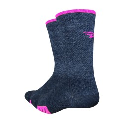 Chaussettes Defeet cyclismo laine rose