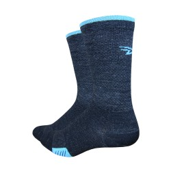 Defeet cyclismo wool charcoal, blue