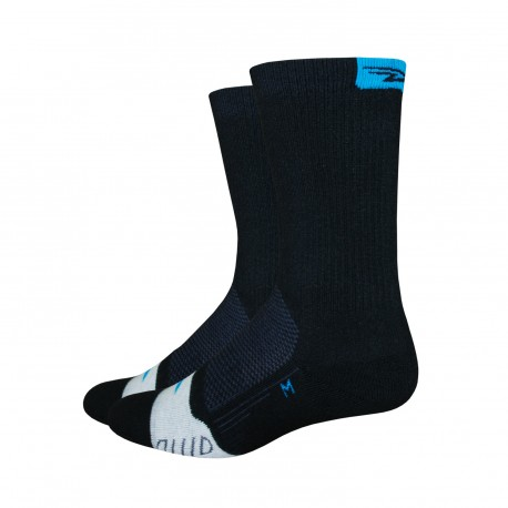 Defeet Thermeator process blue socks