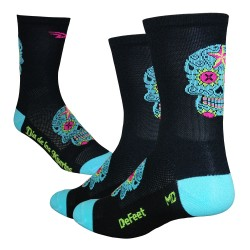 Defeet Aireator tall sugarskull black/neptune