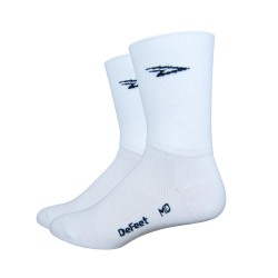 Chaussettes Defeet Aireator D-logo double layer blanc