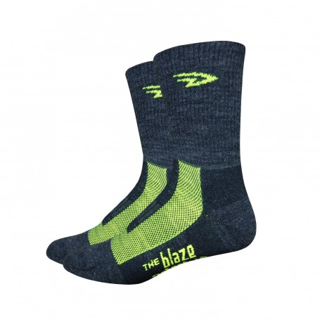 Defeet Blaze black and yellow hi-vis