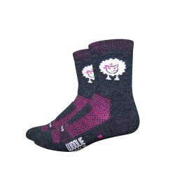 Chaussettes Defeet woolie boolie bad sheep rose