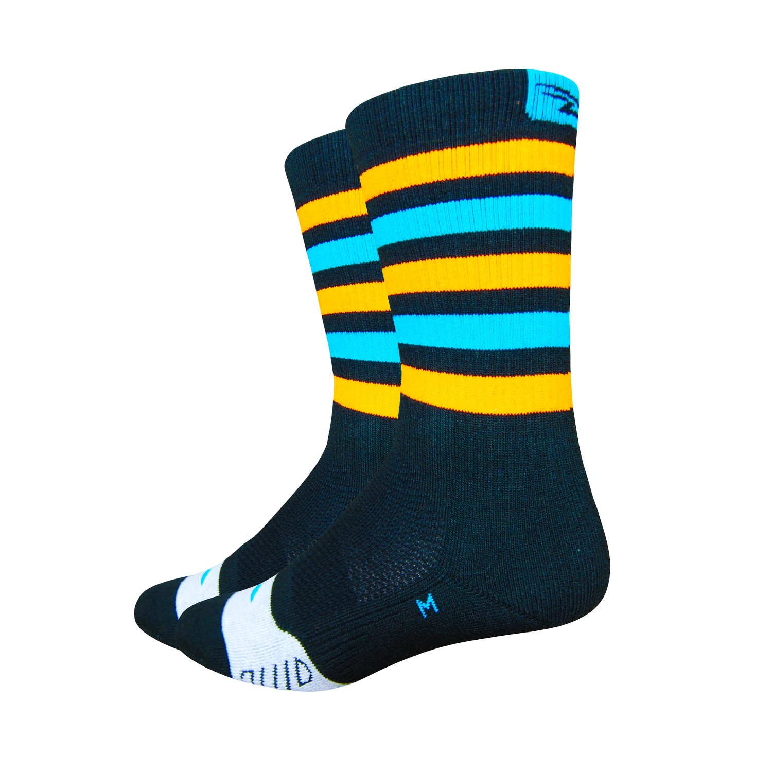 chaussettes de v lo defeet thermeator pour l 39 hiver couleur orange et bleu. Black Bedroom Furniture Sets. Home Design Ideas