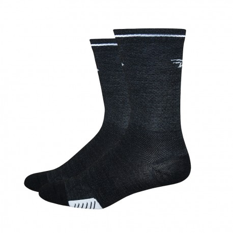 Defeet cyclismo wool charcoal, black with reflector