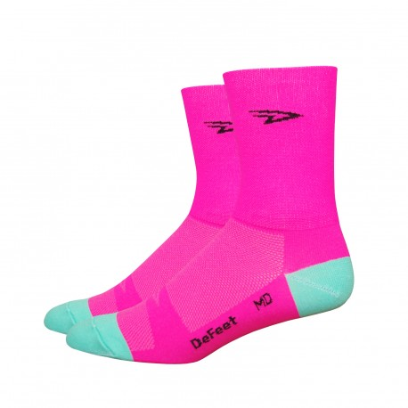 Defeet Aireator Hi-Top double layer hi-viz pink