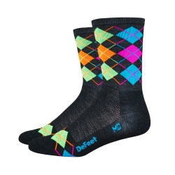 Defeet Wooleator hi-top green, orange, blue, pink