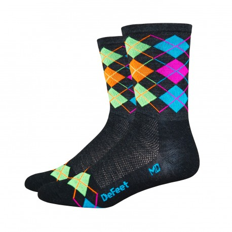 Chaussette Defeet Wooleator hi-top multicolores