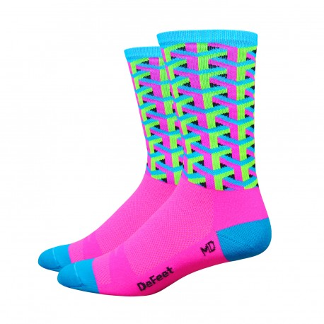 Chaussettes hautes DeFeet Aireator Framework rose