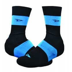 Defeet Slisptream 6 inches black and blue oversocks