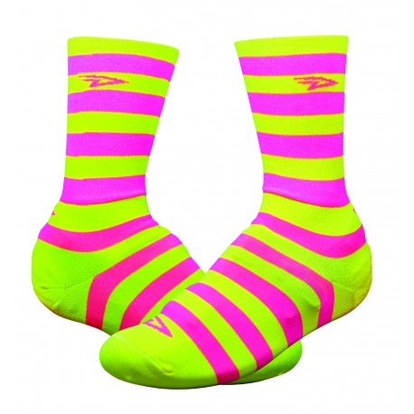 Defeet Slisptream 6 inches yellow and pink hi-vis