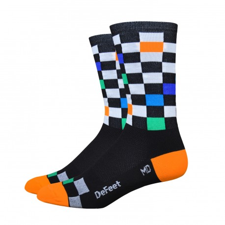 """Chaussettes DeFeet Aireator 6 pouces """"fast times"""""""