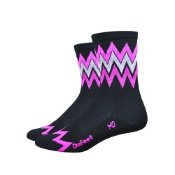 Chaussettes DeFeet Aireator 4 pouces Speakeasy High Rouleur