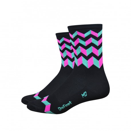 DeFeet Aireator 4 inches Jitter Bug High Rouleur socks