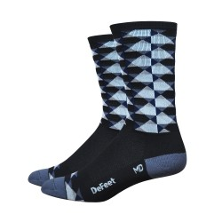 DeFeet Aireator 6 inches HighBall High Rouleur socks black white grey