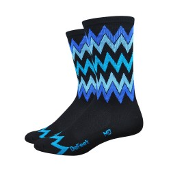 DeFeet Aireator 6 inches Speak Easy High Rouleur socks black & blue