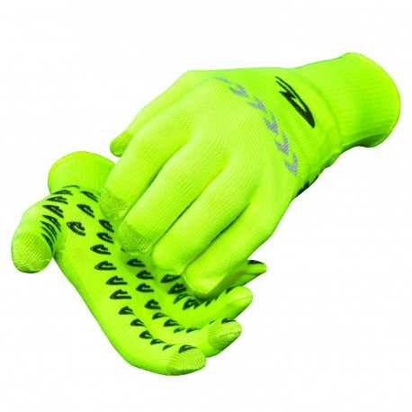 Defeet duragloves etouch yellow hivis with reflector