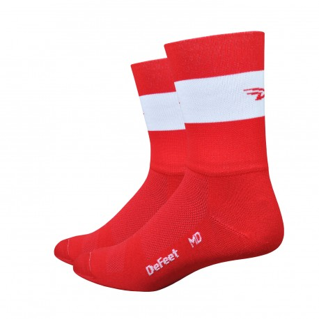Chaussettes Aireator Team DeFeet rouge