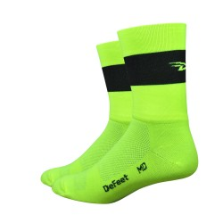 Chaussettes Aireator Team DeFeet jaune fluo