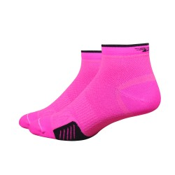 Chaussettes defeet cyclismo taille basse rose