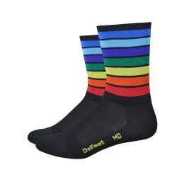 Chaussettes DeFeet Aireator Champion of the world blanc