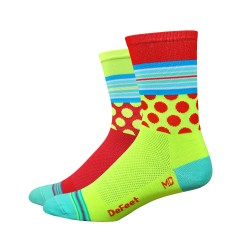 DeFeet Aireator Mash Up yellow and red