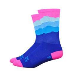 Chaussettes DeFeet Ridge Supply Skyline rose