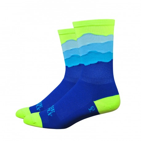 Chaussettes DeFeet Ridge Supply Skyline jaune