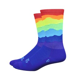 Chaussettes DeFeet Ridge Supply Skyline arc en ciel