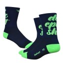 "DeFeet Aireator 5"" Do Epic Shit! Double Cuff navy blue and green"