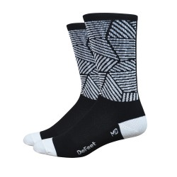 DeFeet Aireator 6 inches Craze High Rouleur socks black and white