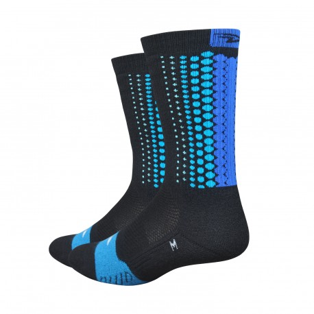 Defeet Thermeator Tread with blue Tread Pattern blue socks