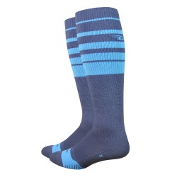 Defeet Thermeator knee high with blue stripes