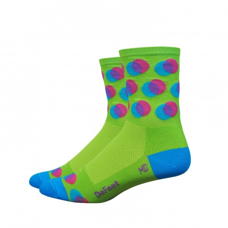 DeFeet Aireator 4 inches Blurred High Rouleur socks