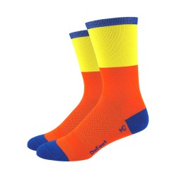 DeFeet Aireator Barnstormer Blockhead orange and yellow