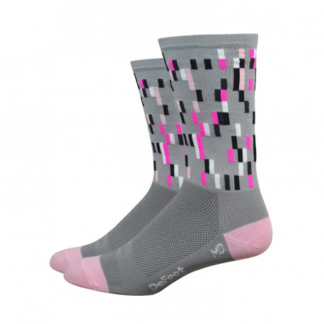 Chaussettes DeFeet Aireator Barnstormer Pixel gris