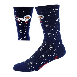"Chaussettes Defeet Aireator 6"" Hi Top bleu marine Flying Dog"