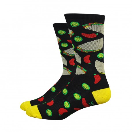 Chaussettes DeFeet Aireator 6 pouces Taco Tuesday