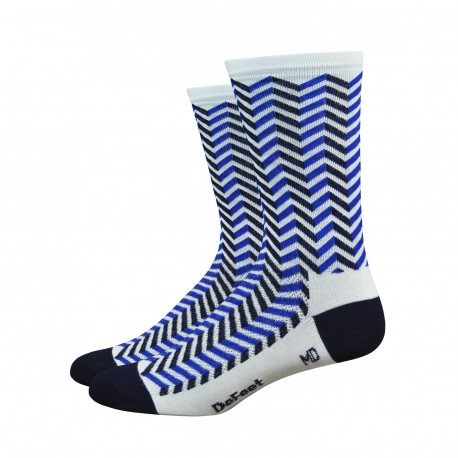"Defeet Aireator 6"" Hi-Top Vibe white and blue"