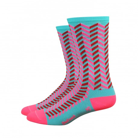 Chaussettes DeFeet Aireator Barnstormer Vibe rose