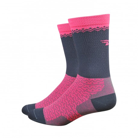 DeFeet Levitator Lite Flamingo Pink and grey
