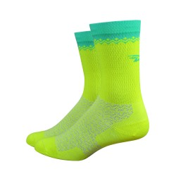 DeFeet Levitator Lite yellow and celeste green